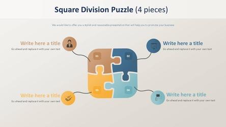 사각 분할 퍼즐형 Diagram