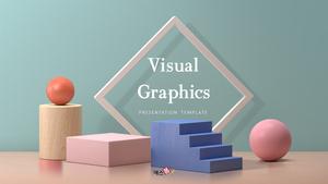 비주얼 그래픽 (Visual Graphics) PPT 배경템플릿