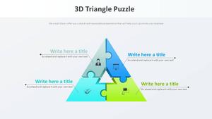 3D 삼각형 퍼즐 Smart Art