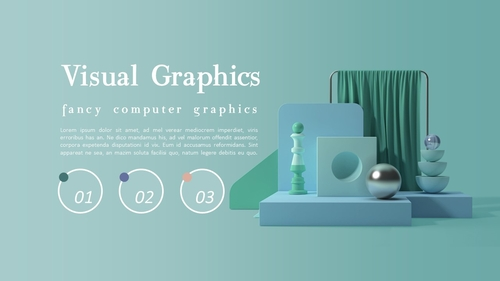 비주얼 그래픽 (Visual Graphics) PPT 배경템플릿 - 섬네일 3page