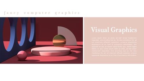 비주얼 그래픽 (Visual Graphics) PPT 배경템플릿 - 섬네일 4page