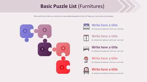 기본 퍼즐형 List 다이어그램 (가구)