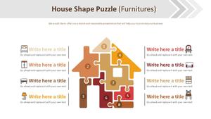 집모양 퍼즐형 Smart Art (가구)