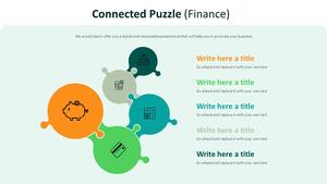 연결된 퍼즐 다이어그램 (금융)
