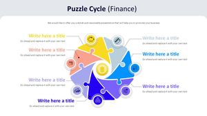 퍼즐 Cycle 주기형 다이어그램 (금융)