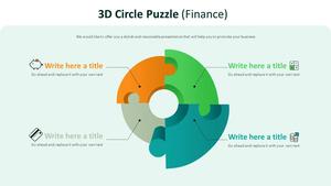 3D Circle 행렬형 퍼즐 Diagram (금융)
