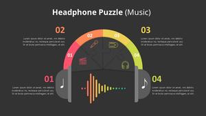 헤드폰 퍼즐형 Diagram (Music)