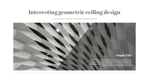 천장 인테리어 디자인 PPT template