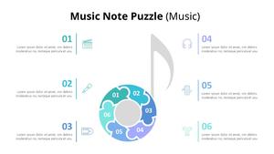 Music Note 퍼즐 다이어그램 (Music)