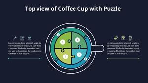 Top view 커피잔 퍼즐 다이어그램 (Coffee Shop)