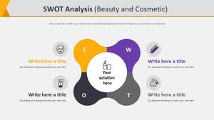SWOT 분석 다이어그램 (뷰티&코스메틱)