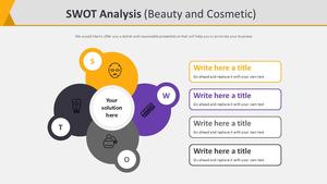 SWOT Analysis 다이어그램 (뷰티&코스메틱)