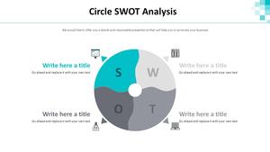 Circle SWOT 분석 다이어그램
