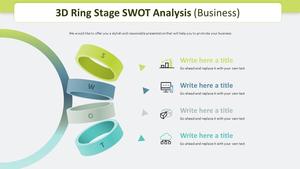 3D Ring SWOT 분석 다이어그램 (비즈니스)