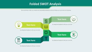 접힌 SWOT Analysis 다이어그램