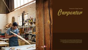 목수, 목공 (Carpenter) 템플릿 배경