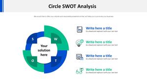 원형 SWOT 분석 Diagram