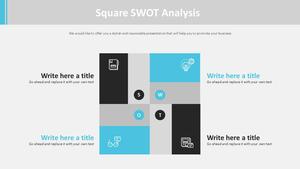 사각형 SWOT Analysis 다이어그램
