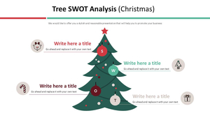 트리 SWOT 인포그래픽 (크리스마스)