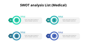 SWOT 분석 리스트
