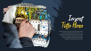 전기 작업 공사 PPT 프레젠테이션 템플릿
