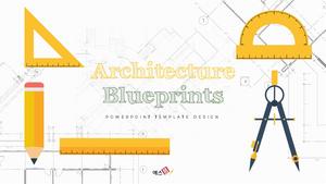 Architecture Blueprints (건축) Powerpoint PPT