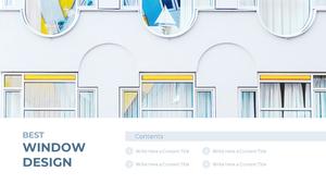Best Window Design (창문 인테리어) PPT 템플릿