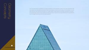 기하학 패턴, 건축 프레젠테이션 템플릿