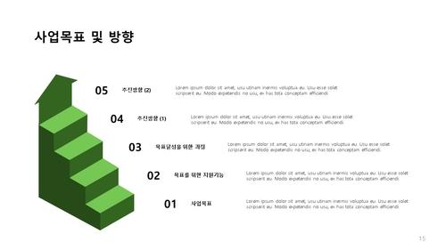 조경식재공사업 신년도사업계획서 (건설) - 섬네일 16page