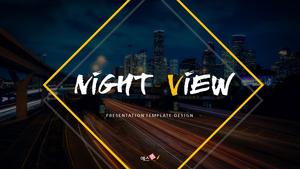 야경 (Night View) PPT 16:9