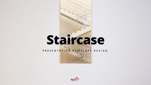 계단 디자인 Staircase PPT 템플릿