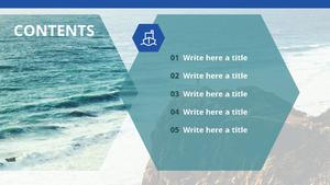 바다의 아름다움 (자연) PPT 표지 - 와이드
