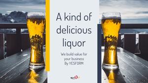 다양하고 맛있는 술 (주류) PPT 배경 - 와이드