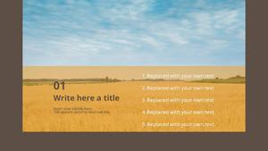 잡곡 PPT 배경템플릿 (농업) - 와이드