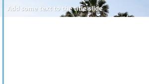 휴양지 Powerpoint 배경 - 와이드