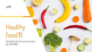 건강한 음식 (Healthy food) PPT 배경
