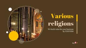 다양한 종교 (Various religions) PPT 표지