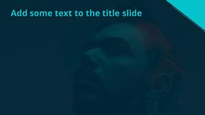 내면의 어둠 Powerpoint 배경 - 와이드