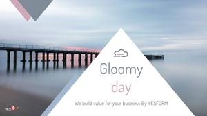 우울한 날 (Gloomy day) Powerpoint 배경 - 와이드