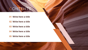 사막의 풍경 (A desert scene) 피피티 배경
