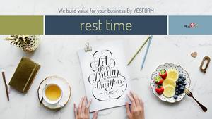 쉬는 시간 (Rest time) PPT 표지 - 와이드