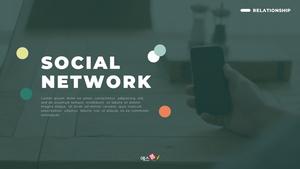 소셜 네트워크 (Social Network) 디자인 템플릿