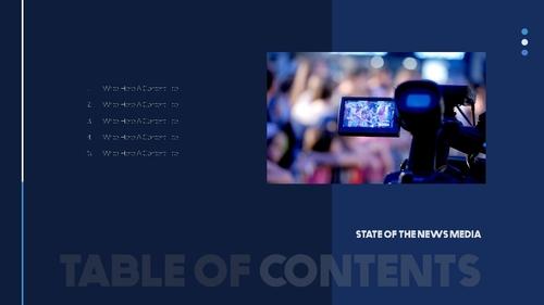 뉴스 미디어 현황 (News Media) 템플릿 - 섬네일 2page