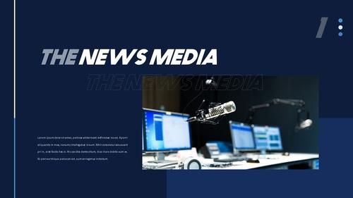 뉴스 미디어 현황 (News Media) 템플릿 - 섬네일 3page