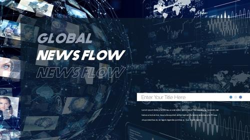 뉴스 미디어 현황 (News Media) 템플릿 - 섬네일 8page