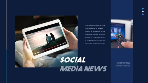 뉴스 미디어 현황 (News Media) 템플릿 - 섬네일 10page