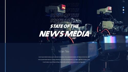 뉴스 미디어 현황 (News Media) 템플릿 - 섬네일 12page