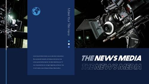 뉴스 미디어 현황 (News Media) 템플릿 - 섬네일 15page