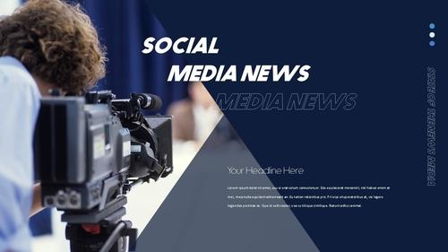 뉴스 미디어 현황 (News Media) 템플릿 - 섬네일 26page