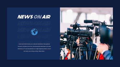 뉴스 미디어 현황 (News Media) 템플릿 - 섬네일 27page